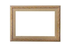 Quadro de madeira em um fundo branco Fotografia de Stock