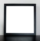 Quadro de madeira grosso preto com espaço vazio imagens de stock