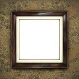 Quadro de madeira no papel de parede da cor Imagens de Stock