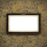 Quadro de madeira no papel de parede da cor Imagem de Stock Royalty Free
