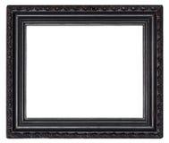 Quadro de madeira preto isolado em um branco imagem de stock royalty free