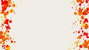 Quadro de manchas abstratas da aquarela no branco Foto de Stock