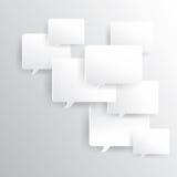 quadro de mensagens com sombra Fotos de Stock Royalty Free