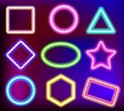 Quadro de néon para o texto Fotografia de Stock Royalty Free