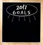 Quadro de 2017 objetivos Imagem de Stock Royalty Free