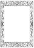 Quadro de página decorativo da coloração do formato do quadrado a4 isolado no branco Fotos de Stock Royalty Free