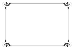 Quadro de página decorativo decorativo Linha molde do vetor da beira do estilo Foto de Stock