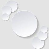 Quadro de papel do círculo infographic Imagem de Stock Royalty Free