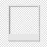 Quadro de papel transparente vazio da foto do Polaroid ilustração stock