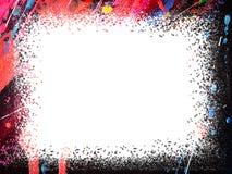 Quadro Quadro de pintura da cor de óleo da arte com espaço branco para o texto fotos de stock