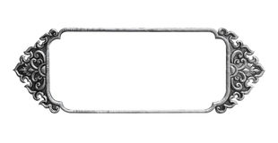 Quadro de prata decorativo velho - feito a mão, gravado Imagens de Stock