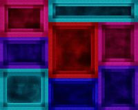 Quadro de quadro Art Decor Shapes Painting Fotos de Stock