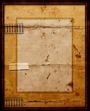 Quadro de retrato velho com montagem ilustração do vetor