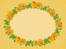 Quadro de rosas amarelas ilustração royalty free