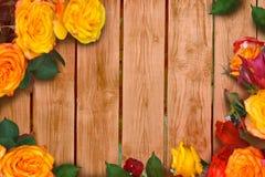 Quadro de rosas multi-coloridas fotos de stock