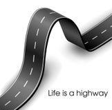 Quadro de texto curvado da estrada ilustração do vetor