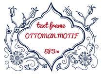 Quadro de texto do vetor no estilo do otomano ilustração stock
