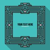 Quadro de texto geométrico Imagem de Stock
