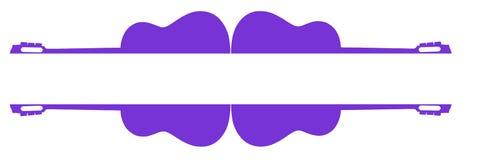 Quadro de texto violeta das guitarra Fotografia de Stock Royalty Free