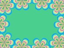 Quadro de um teste padrão de flor Fotos de Stock Royalty Free
