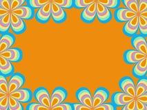Quadro de um teste padrão de flor Imagem de Stock Royalty Free