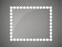 Quadro de vidro com luzes Ilustração do vetor Imagens de Stock