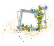 Quadro decorado para a foto no fundo branco fotos de stock royalty free