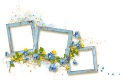 Quadro decorado para a foto no fundo branco foto de stock royalty free