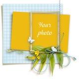 Quadro decorado para a foto no fundo branco imagem de stock