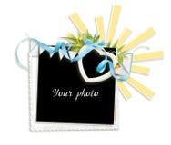 Quadro decorado para a foto no fundo branco fotos de stock