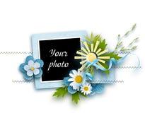 Quadro decorado para a foto no fundo branco ilustração stock