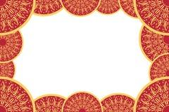 Quadro decorativo abstrato brilhante Quadro amarelo e vermelho da foto Lugar para o texto Foto de Stock
