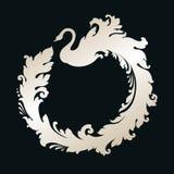 Quadro decorativo com cisne decorativa Imagem de Stock Royalty Free