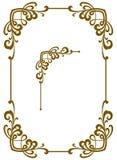 Quadro decorativo da concessão Elemento do projeto Foto de Stock