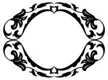 Quadro decorativo decorativo barroco oval ilustração do vetor