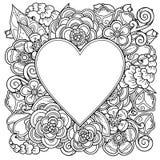 Quadro decorativo do amor com coração Foto de Stock