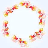 Quadro decorativo do fogo do ornamento do círculo do vetor Imagens de Stock