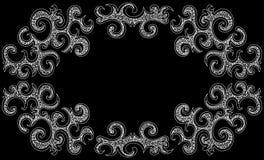 Quadro decorativo do vetor com formas de ondulação Imagem de Stock