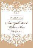 Quadro decorativo do vintage para convites do casamento ilustração royalty free