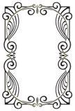Quadro decorativo no estilo do art nouveau Fotografia de Stock Royalty Free