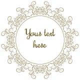 Quadro decorativo redondo Imagens de Stock Royalty Free