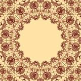 Quadro decorativo redondo sob a forma do spiderweb para Dia das Bruxas Imagens de Stock