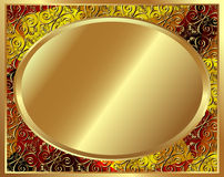 Quadro delicado do ouro com teste padrão 3 Fotografia de Stock Royalty Free