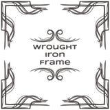 Quadro dez do ferro forjado Imagem de Stock