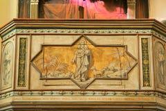 Quadro di comando con il pastore dipinto di Gesù delle anima Immagini Stock