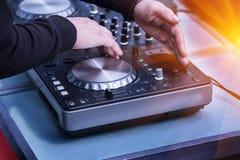 Quadro di controllo di musica del DJ Fotografia Stock