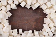 Quadro do açúcar refinado imagem de stock