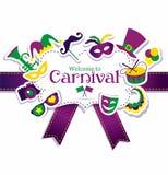 Quadro do carnaval Foto de Stock Royalty Free