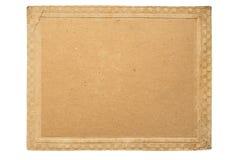 Quadro do cartão do vintage com teste padrão retro da beira Te velho do grunge fotografia de stock royalty free