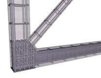 Quadro do concreto reforçado Fotografia de Stock Royalty Free